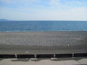 田子の浦における海側の眺め