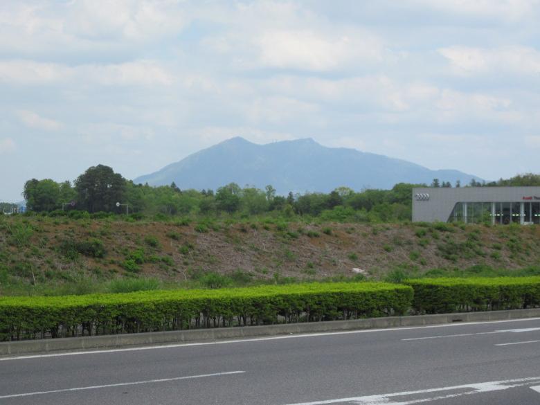 お出迎えしてくれた筑波山