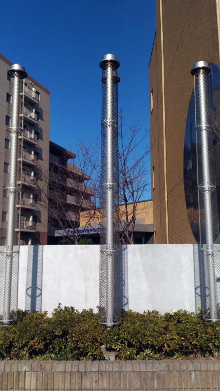 3本に見えるお化け煙突の模型