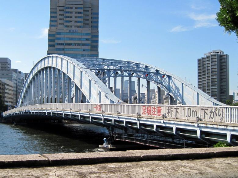 下路式アーチ橋の永代橋