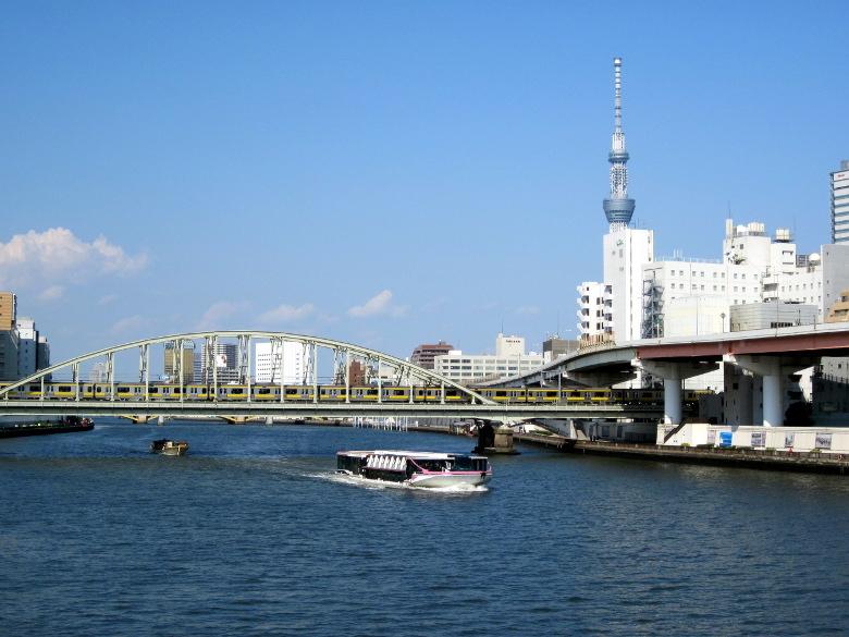 両国橋から北側を望んだ風景