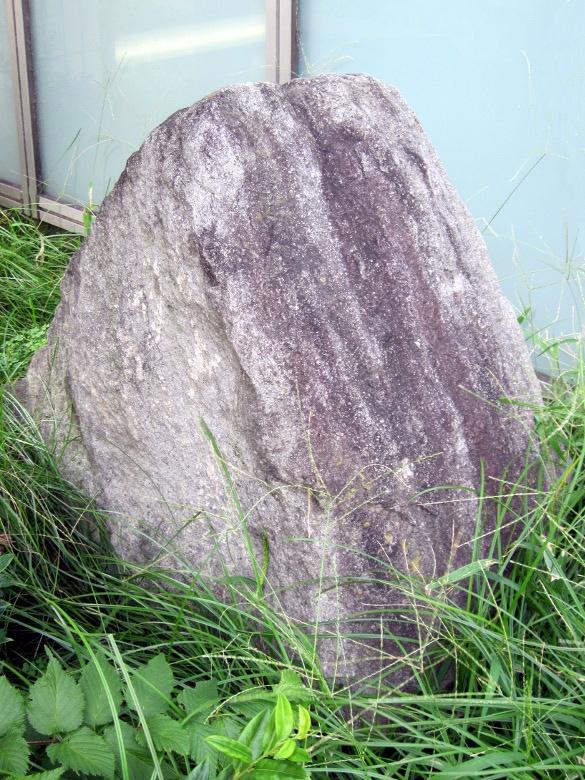 出土した江戸時代の石垣石