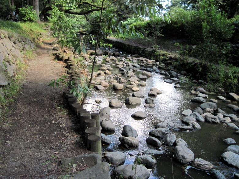 川幅が少し広がった神田川