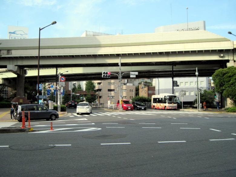 江戸川橋の交差点