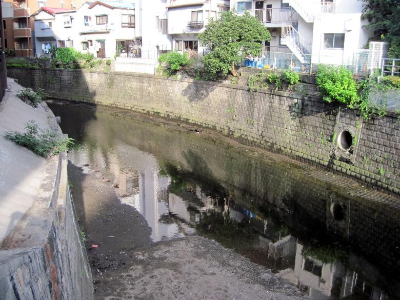 古川橋から下流方向の眺め