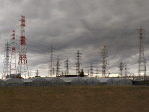 新京葉変電所付近の無数の高圧鉄塔