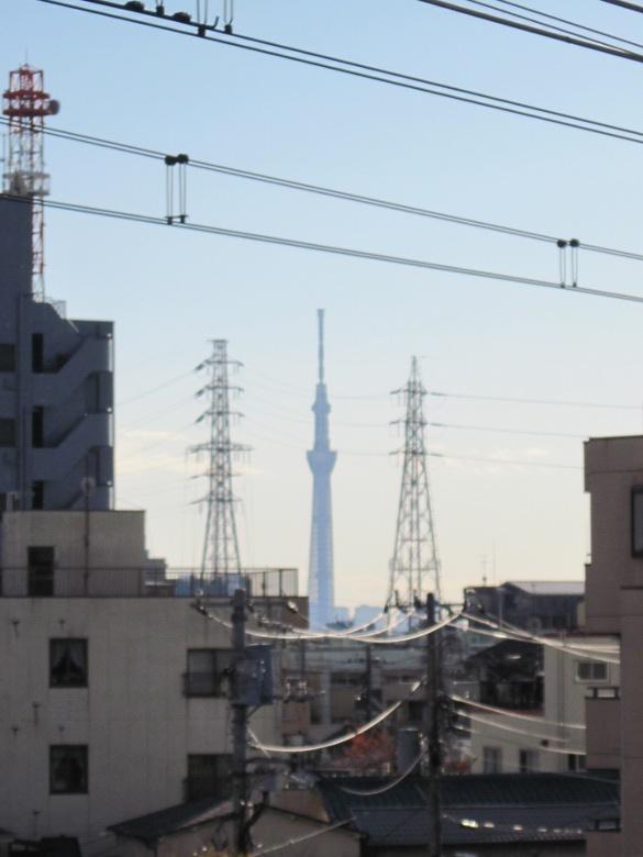 東京スカイツリーを中央とした対称的な構成