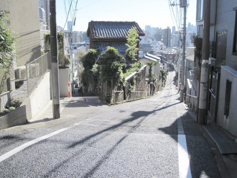 日無坂と富士見坂の分岐
