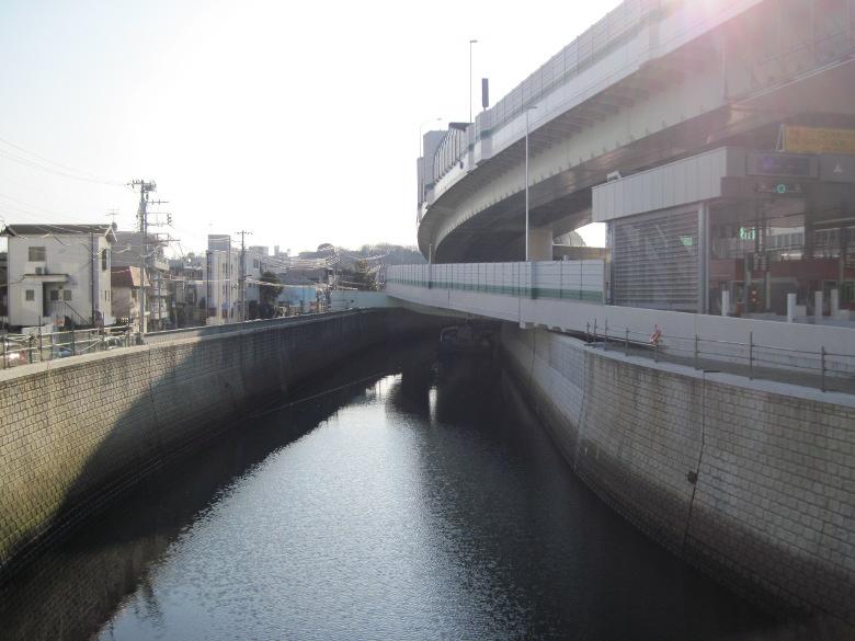 溝田橋から上流方向の眺め