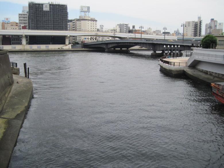 神田川の河口と両国橋