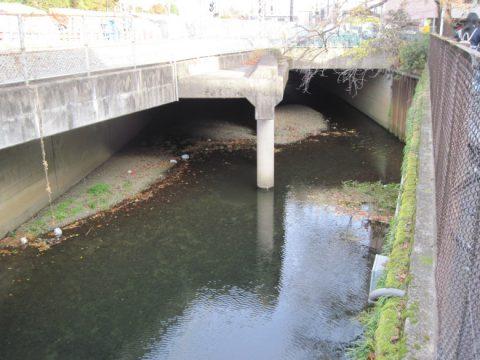 西武新宿線の下をくぐる石神井川