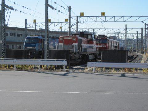 DE10形、EH200形、EH500形機関車