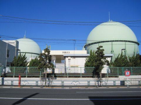 天然ガスのガスタンク