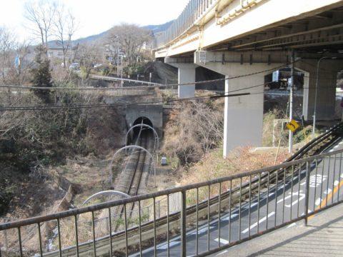 中央自動車道と中央線と一般道