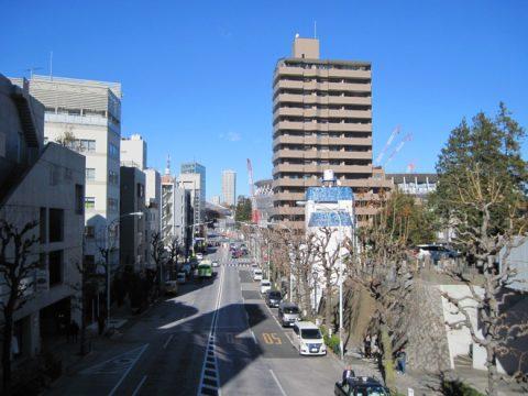 原宿陸橋から北側を見たときの写真
