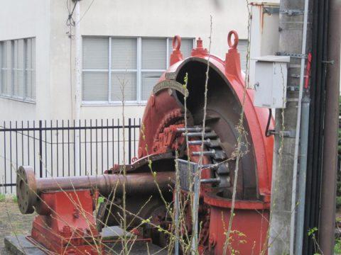 鹿留発電所で使われていたフランシス水車