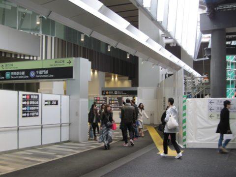 相変わらず工事中の渋谷駅