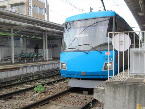 山下駅での世田谷線