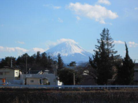 大武川橋付近から見た富士山