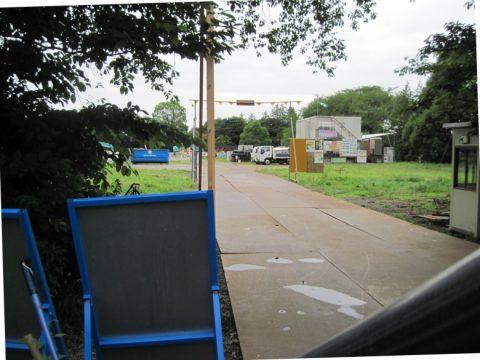 多目的広場になる予定の暫定園路