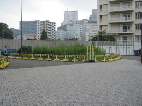 地下トンネル築造工事及び街路築造工事開始地点
