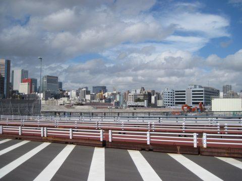 築地大橋から見た築地市場跡