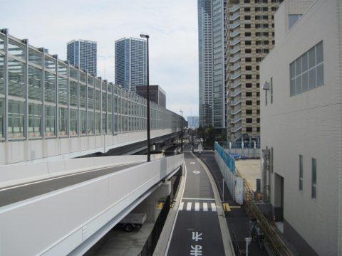 築地大橋から眺めた今日の散歩経路
