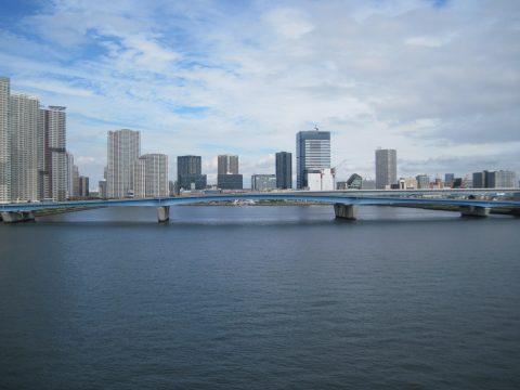 晴海大橋と晴海運河