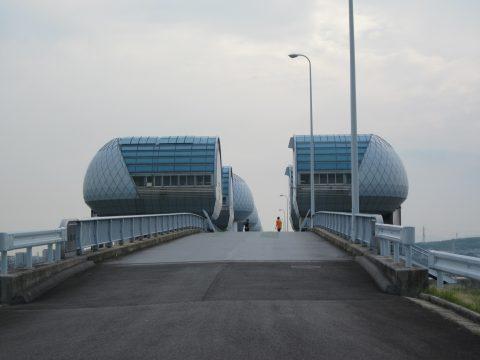 長良川河口堰(佐屋、2014/05/25)