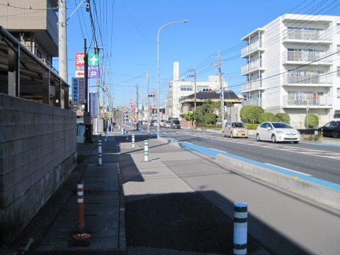 越谷駅付近の日光街道