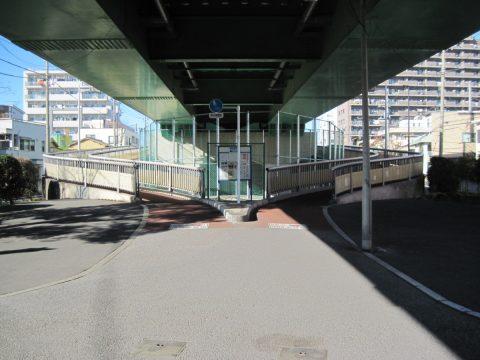 青砥橋の歩道の分岐