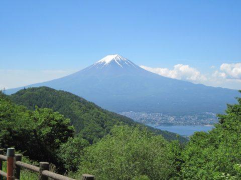 天下茶屋から見た富士山