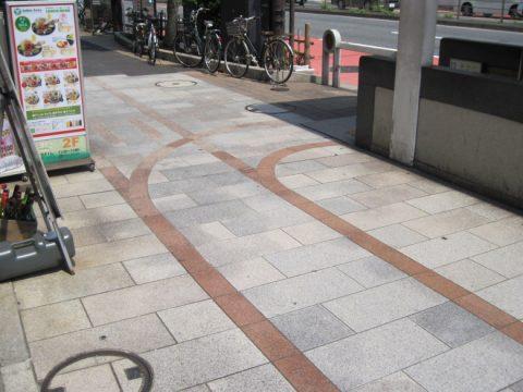 小川町付近の歩道