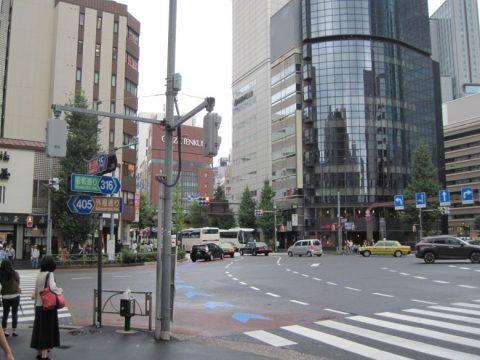 中央通りと外堀通りの交差点