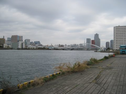 行政的には東京湾である隅田川の最下流