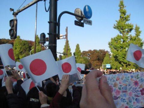 パレード通過の瞬間